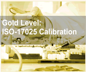 Gold Level: ISO-17025 Calibration Service
