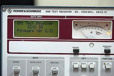 Rohde & Schwarz ESVS10 EMI Test Receiver