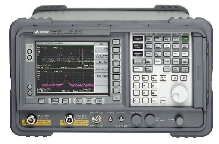 Keysight (formerly Agilent T&M) E4407B-1D5-1DS-A4H-AYX-B72 9 KHz To 26.5 GHz Spectrum Analyzer Rental