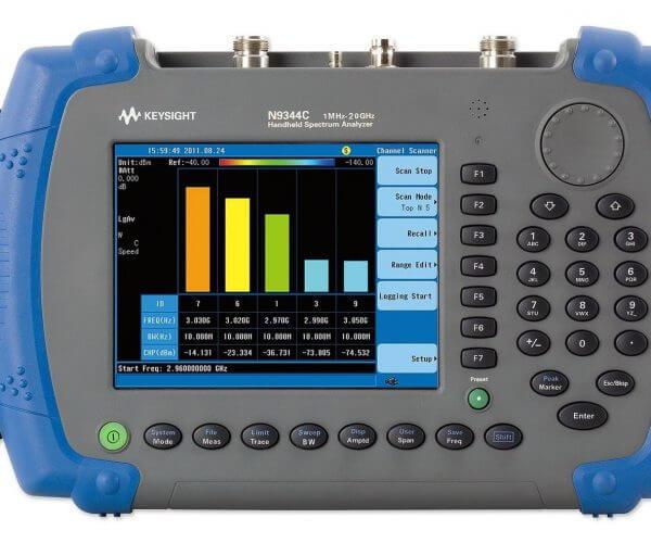 Keysight (formerly Agilent T&M) N9344C Handheld Spectrum Analyzer (HSA), 20 GHz Rental