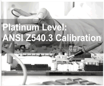 Platinum Level: ANSI Z540.3 Calibration Service