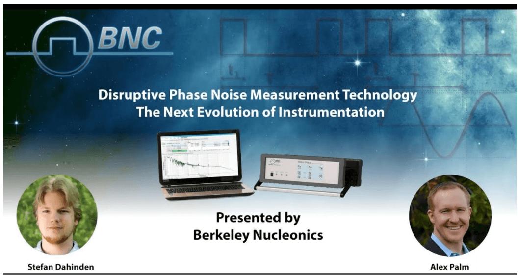 BNC Phase Noise Measurement Webinar