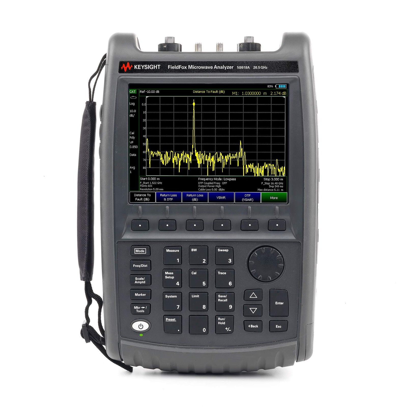 Keysight (formerly Agilent T&M) N9918A FieldFox Handheld Microwave Analyzer 26.5 GHz