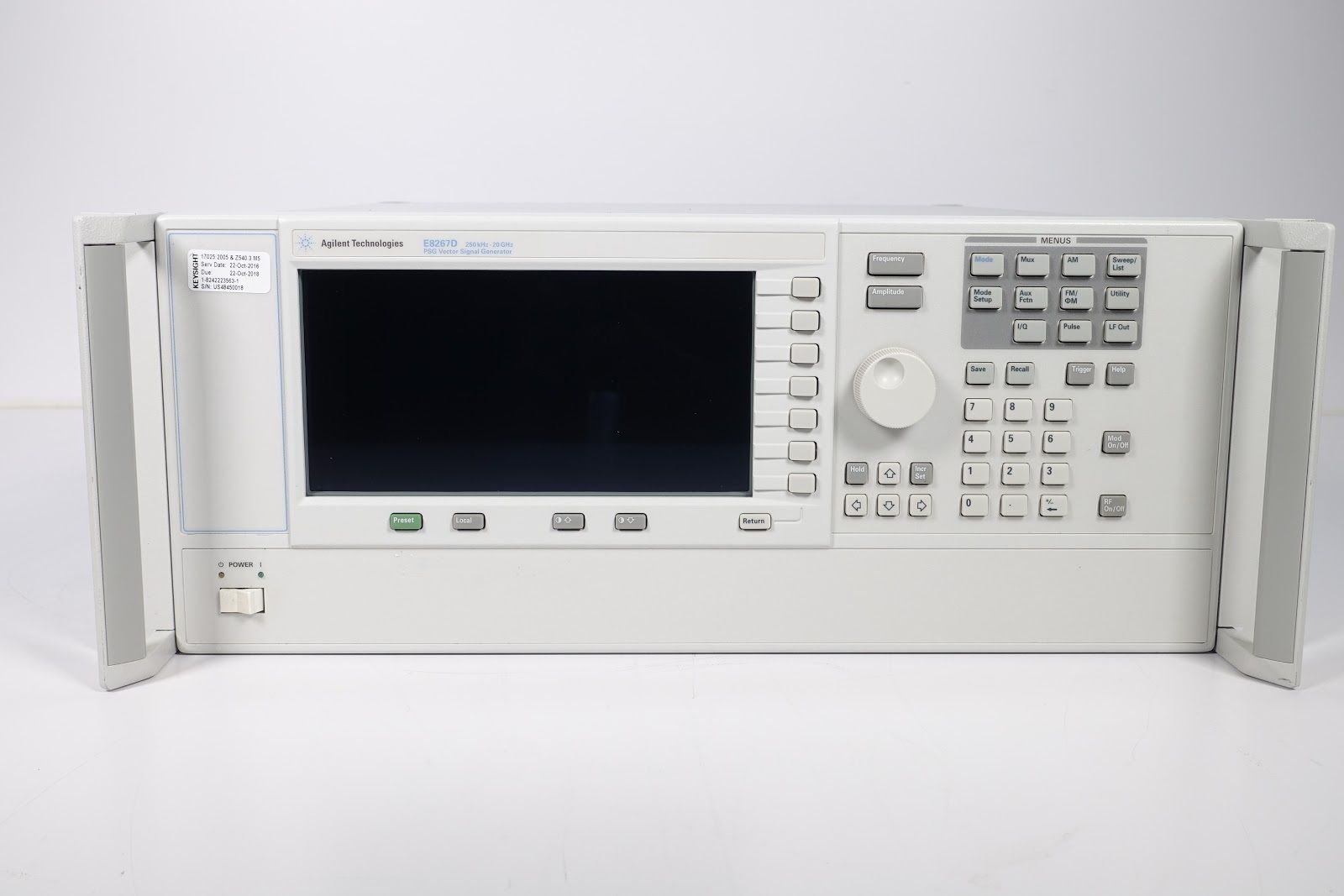 Keysight (formerly Agilent T&M) E8267D PSG Vector Signal Generator 250KHz-20GHz