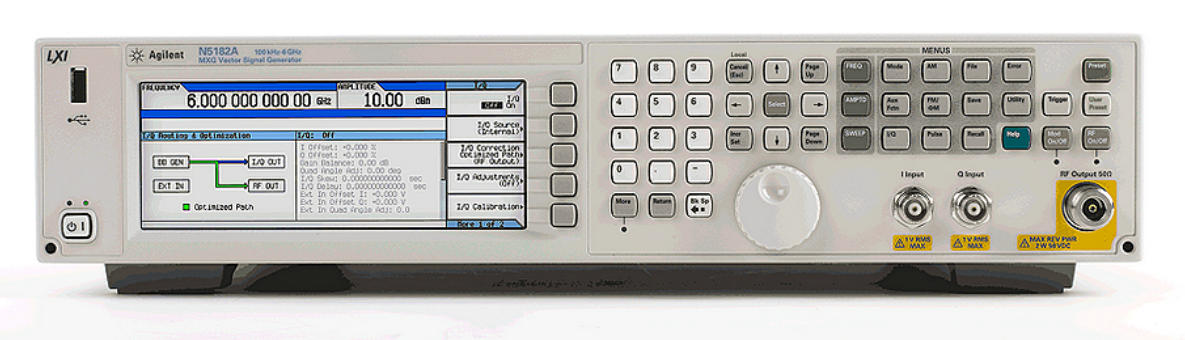 Keysight (formerly Agilent T&M) N5182A MXG Vector Signal Generator, 100 kHz  to 6 GHz