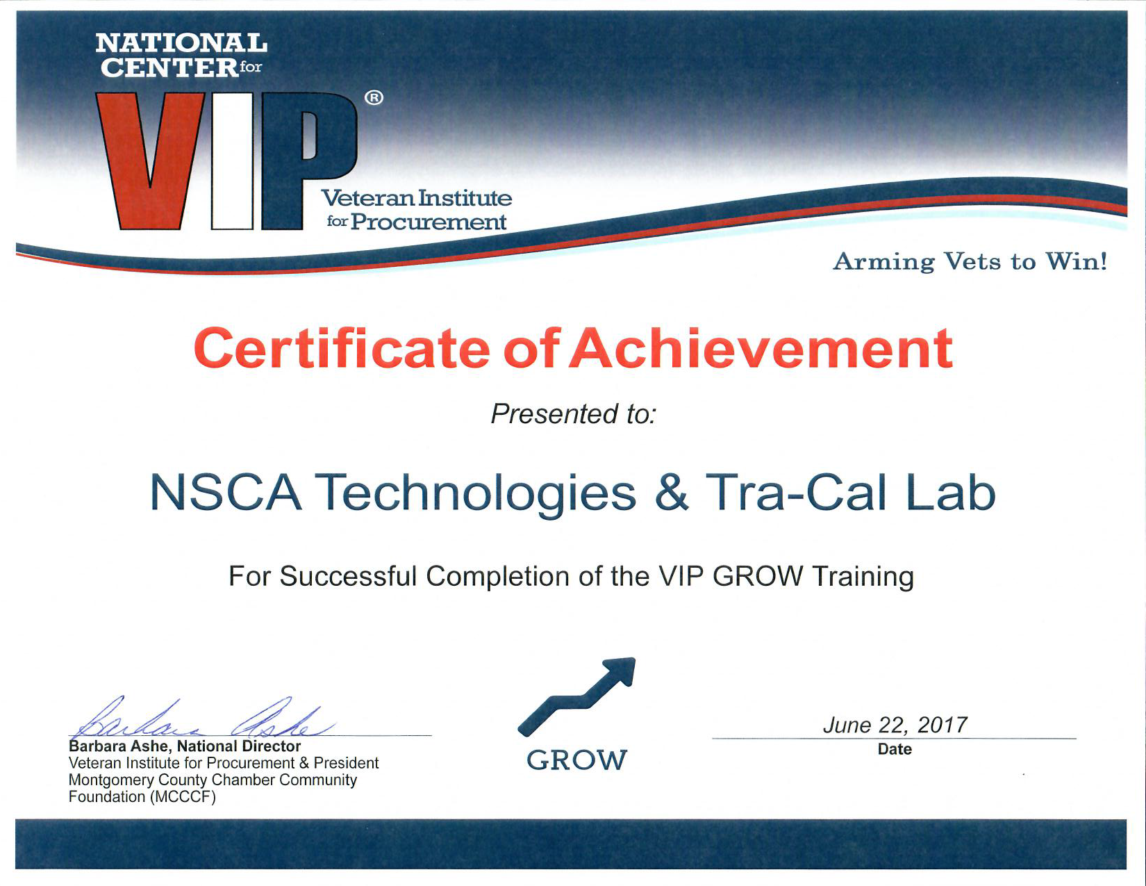 NSCA-Tra-Cal_VIP_Grow_certificate
