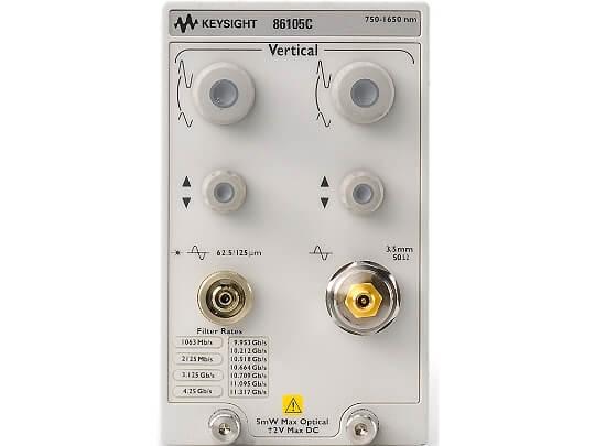 Keysight (formerly Agilent T&M) 86105C-130-150-180-190 9 GHz Optical/20 GHz Electrical Sampling Module