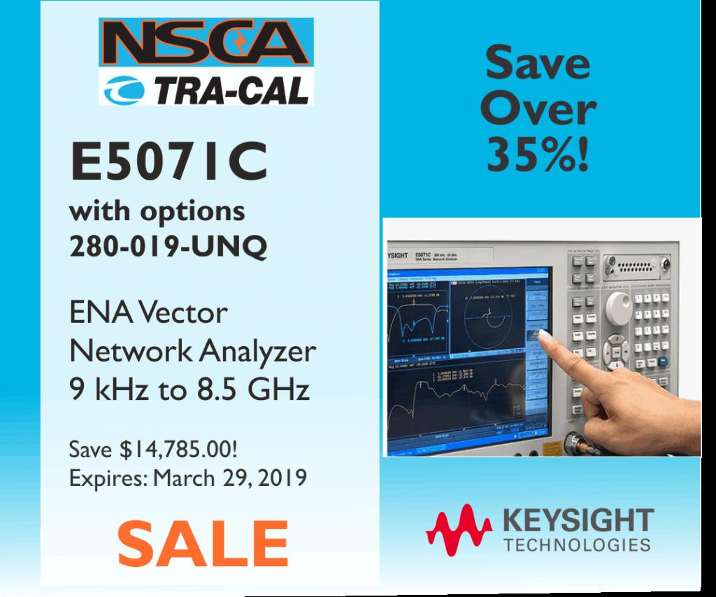 Keysight E5071C ENA Vector Network Analyzer Sale – NSCA & Tra-Cal