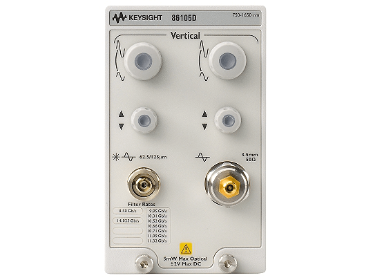 Keysight (formerly Agilent T&M) 86105D-168-281 34 GHz Optical, 50 GHz Electrical Module, 750-1650 Nm, MMF And SMF