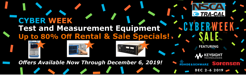 Cyber Week Banner- Save up to 80% off test equipment