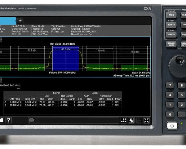 Keysight (formerly Agilent T&M) N9000B-526-B25-EDP-EMC-EP4-ESC-FSA-P26-PFR-W10 CXA Signal Analyzer, Multi-touch, 9 KHz – 26.5 GHz