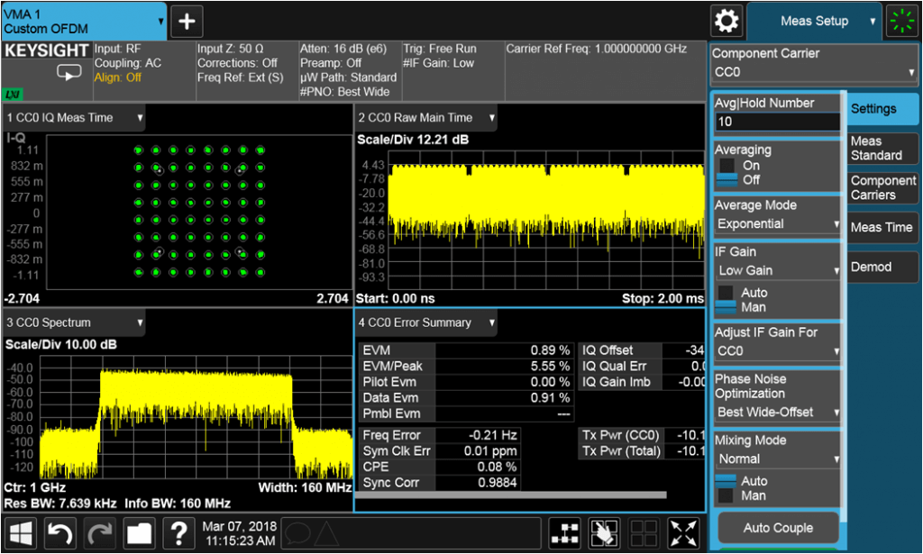 N9054EM1E X-Series VMA Custom OFDM Measurement Application